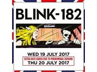 Blink 182 concert tickets 20th JULY 2017 at the O2 Arena LONDON
