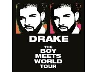 Drake - 2 PLATINUM Seated Tickets London O2 Arena 30/01/2017