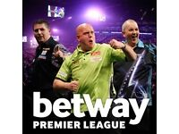 4 x Betway Premier League Darts Final tickets @ The o2