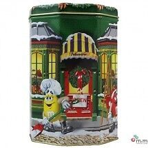 M & M BOITE METAL CHRISTMAS VILLAGE SERIES, PATISSERIE SHOP