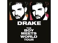Drake tickets * GOLD CIRCLE * o2 arena