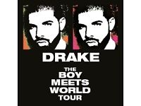 4x Drake Tickets SEATED LEVEL 1 O2 ARENA 20/03