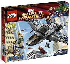 LEGO 6869 AVENGERS QUINJET BNIB IRONMAN THOR LOKI BLACK WIDOW ALIEN MINI FIGS