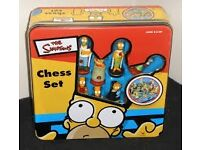Complete Simpsons Chess Set in original tin box