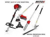 Mitox 26mt garden multi tool strimmer hedgetrimmer