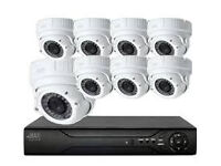ahd cctv camera full system 1080p dvr 8 channel +1TB+ x 8 2mp cameras supplied and fitted