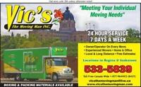REGINA MOVERS!   VIC'S THE MOVING MAN!   * FULLY INSURED**