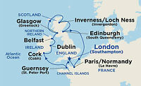 British Isles & Ireland Cruise package with Air May 2018