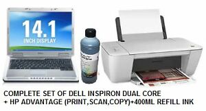 COMPLETE LAPTOP+DESKJET(PRINT,SCAN,COPY) + 450ML REFILL INK SALE