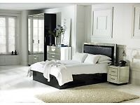 King size storage bed with mattress bargain £250