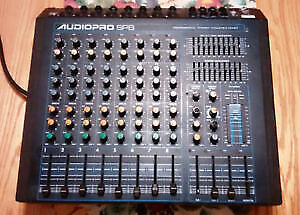 Yorkville 400 watt 8 channel mixer w/2 monitors and 2 speakers
