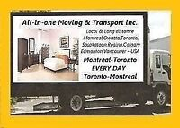 45/HR 2/Movers Best price Montreal to Toronto
