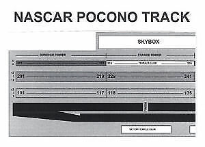 2 NASCAR POCONO TICKETS JULY 30 2017 GDSTAND SEC. 235, ROW 44