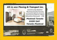 Truck Leaving Montreal to toronto this week you have a Chance