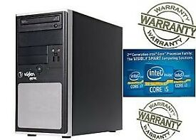 FAST 3TB DESKTOP TOWER 8GB INTEL CORE i5 @ 3.2GHz HDMI WINDOW 7 PC
