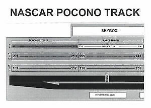 2 nascar pocono tickets july 30 2017 frances sec 235 row