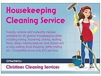 christines cleaning services domestic cleanerhousekeeper glasgow