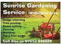 Sunrise Garden Services - Free quotes in the Wellington / Taunton area