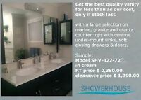 Bathroom vanities on clearance sale, only if stock last