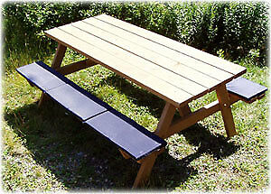 *** CHRISTMAS SALE - PICNIC TABLE SEAT CUSHIONS ***