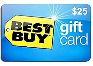 ⭆ BEST BUY CANADA $25 FULL VALUE NEW GIFT CARD ✋