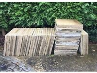 100 x Reclaimed 2 by 2 concrete paving slabs (600 x600mm)