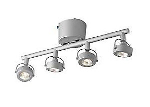 3 - 4 Light Silver Color Halogen Track Lighting Fixtures