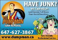 The Dumpman - Realtors #1 Choice - Junk Removal + Demolition