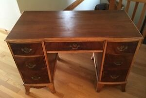 Recently Reinished Solid Wood Secretary Desk