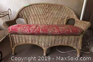 Wicker Couch C