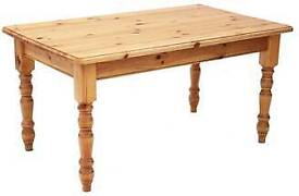 6ft farmhouse solid pine dining table. no chairs