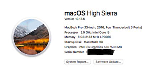 "MacBook Pro 13"" with Touch Bar (2016 model)"
