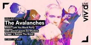 2x The Avalanches Sunday 28 May Sydney City Inner Sydney Preview