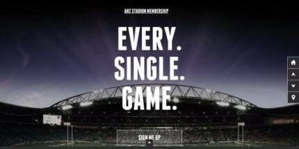 4 X ANZ STADIUM GOLD MEMBERSHIPS