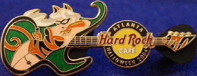 Halloween Costumes Atlanta (Hard Rock Cafe ATLANTA 2004 HALLOWEEN PIN Costume Guitar TIGER Girl - HRC)