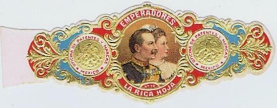 Kaiser Wilhelm Augusta Victoria La Rica Hoja Mexican  cigar band vitolas #283