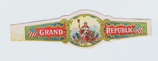 Grand Republic  cigar band vitolas Bauchbinden Sigarenbandje #185