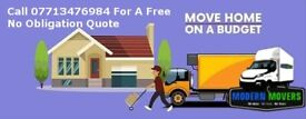 Modern Movers| Home & Office Removal Company|Luton Van|7.5T Truck|Best Price Guaranteed|Sameday