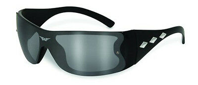 Triple Play Black Frame Sun Glasses Flash Mirror, UV400 Filter,Scratch Resistant