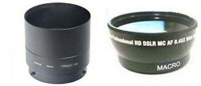 Wide Lens + Tube Adapter bundle for Nikon CoolPix P510 Digital Camera