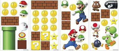 Super Mario Brothers Dekorationen (Super MARIO Brothers Build a Scene wall stickers 45 decals Nintendo decor Luigi)
