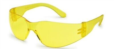 12 Pair Pack Protective Safety Glasses Yellow Amber Lens Eyewear Night Sports