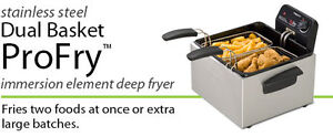 DEEP FRYER DUAL BASKET PRO   ( BRAND NEW IN THE BOX )