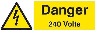Sign Danger 240 Volts Sav Personal Protection Site Safety Signs