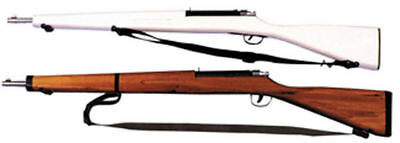 Morris Costumes Rifle Wooden Parade 42 Inches Moveable White Brown Prop. - Parade Costumes