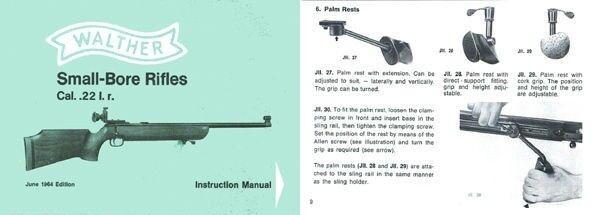 Walther 1964 Small Bore Rifle Catalog