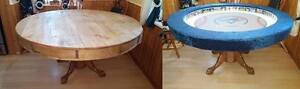 """Custom 40th Season Blue Jays 60"""" Round Poker Table With Dining T"""