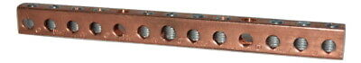 Ilsco D167-10 Copper Grounding Neutral Bar Terminal Block
