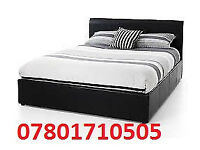 BED DOUBLE LEATHER RIO BED AND MATT BRAND NEW FREE quilt 9546