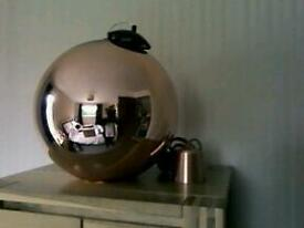 Copper/glass light shade
